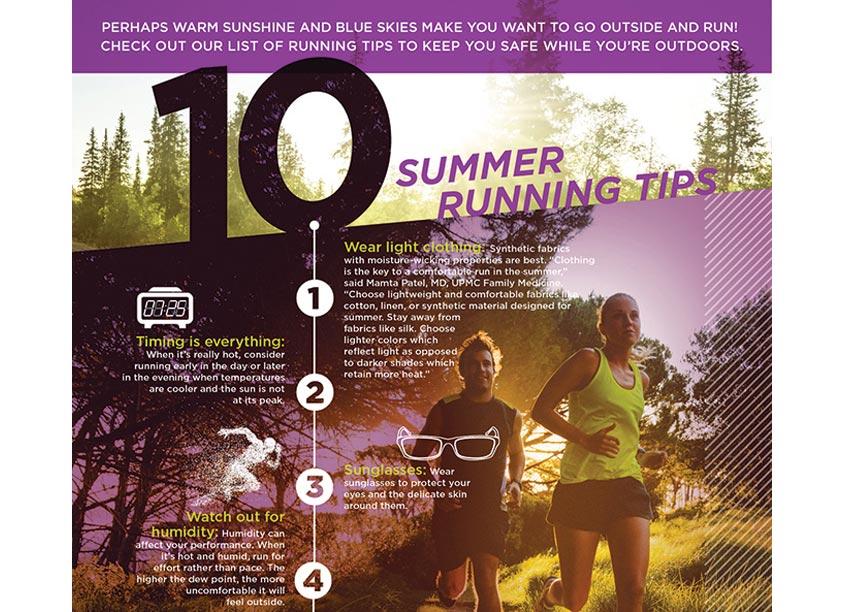Garrison Hughes Inc. UPMC Health Beat Blog Running Infographic