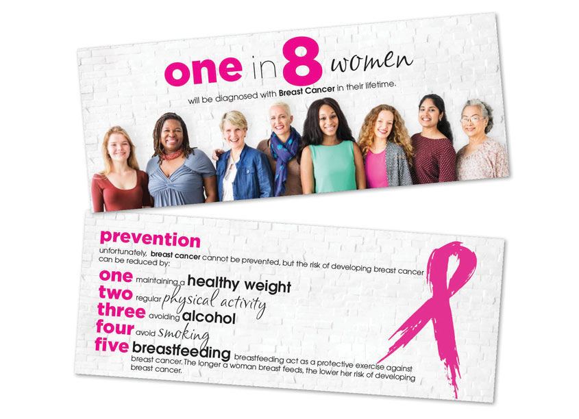 Professional Office Services Breast Cancer One in Eight Brochure