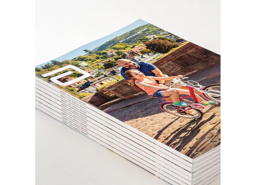 Ted Stoik/ Hartford Design / Woz Design Abbott 2016 Annual Report