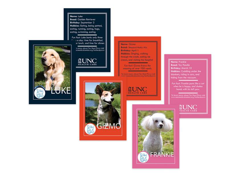 UNC Health Care Tar Heal Paws Trading Cards