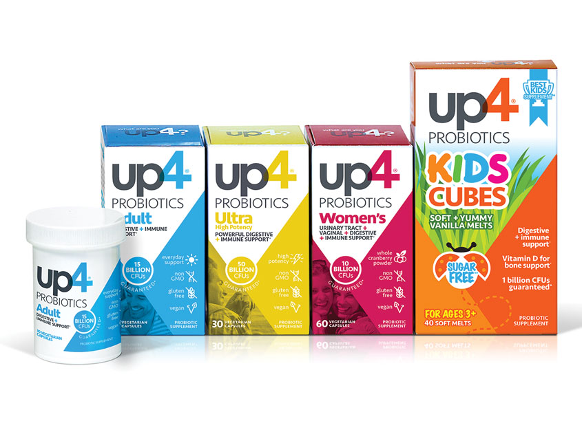 i-Health UP4 Probiotics Refresh Packaging