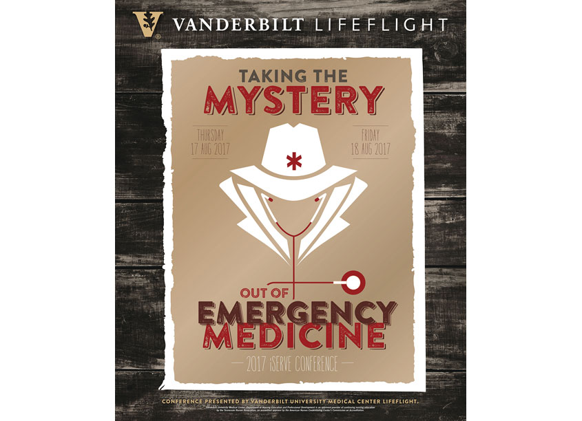 Donna Huff Design 2017 Vanderbilt LifeFlight iServe Emergency Care Conference Poster