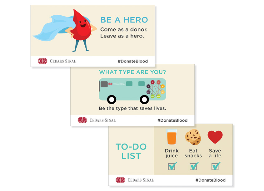 Ginevra Design Blood Donor Services Twitter Infographics Series