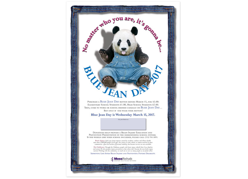 Ron Kalstein/RKDK Design BlueJean Day Fundraiser Poster