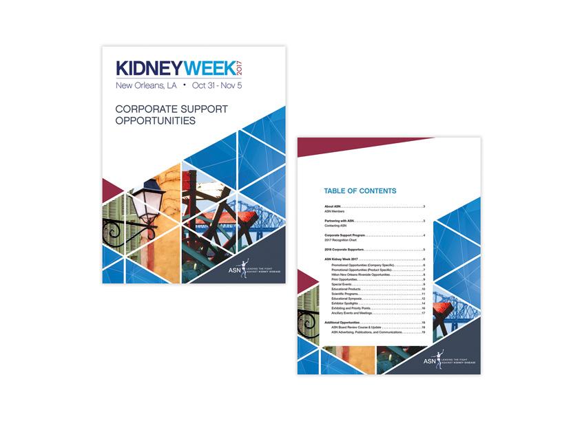 Lisa Cain Design Kidney Week 2017 Corporate Support Opportunities Brochure