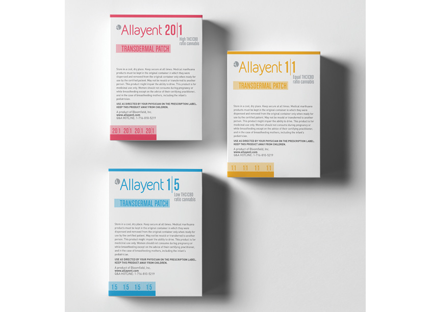 Parry Branding Group Allayent Medical Marijuana Transdermal Patch Packaging
