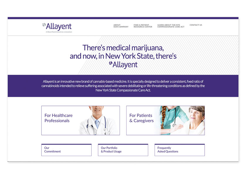 Parry Branding Group Allayent Medical Marijuana Website Design