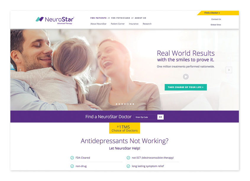 Parry Branding Group NeuroStar Advanced Therapy Website
