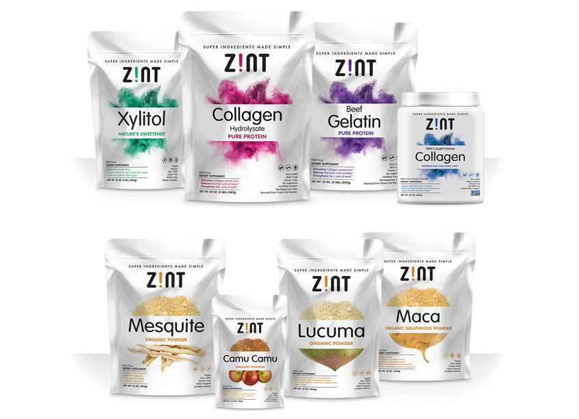 QNY Creative Zint Nutricosmetics Packaging
