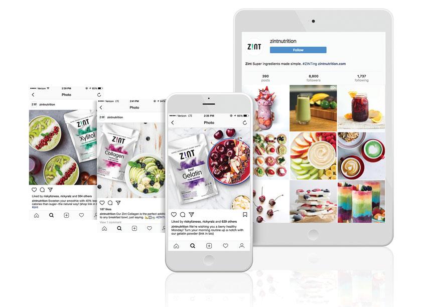 QNY Creative Zint Nutrition Social Media Advertising