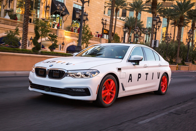 The future of mobility takes a major step forward today with the launch of Aptiv PLC (NYSE: APTV), a technology company that develops safer, greener and more connected solutions for a diverse array of global customers. (PRNewsfoto/Aptiv PLC)