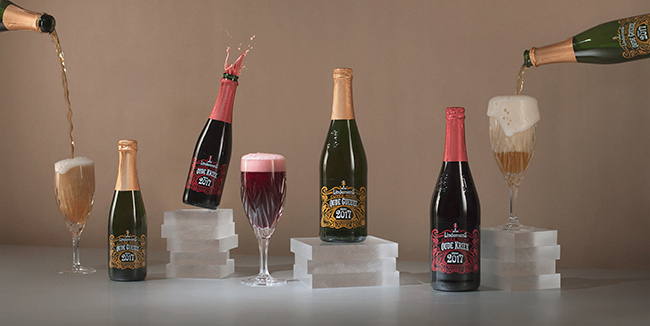 Packaging design Lindeman's Oude Gueuze and Kriek
