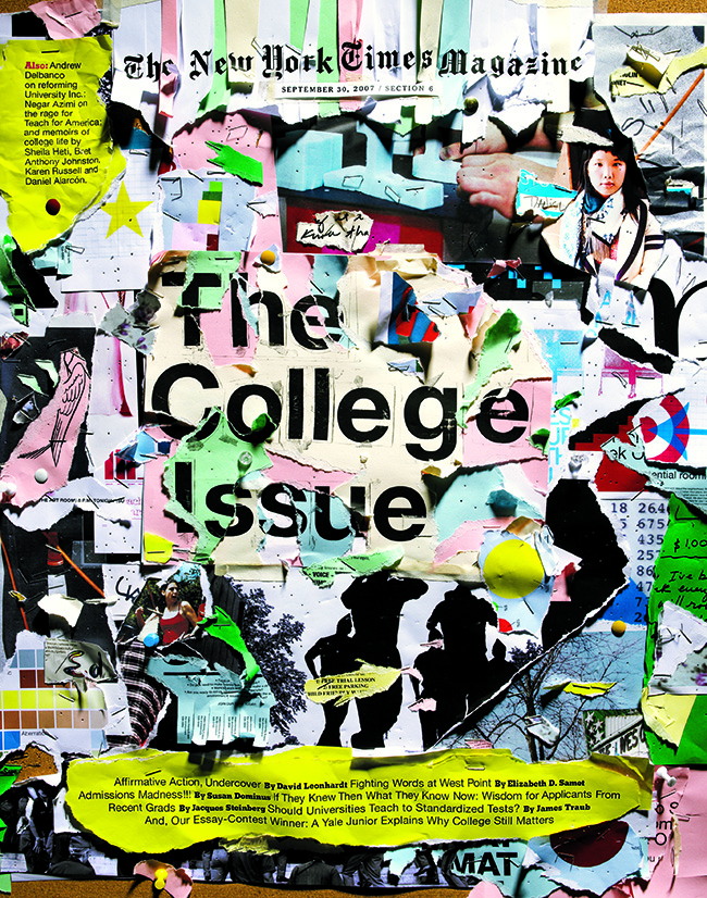 """The College Issue"" cover, The New York Times Magazine, September 30, 2007"