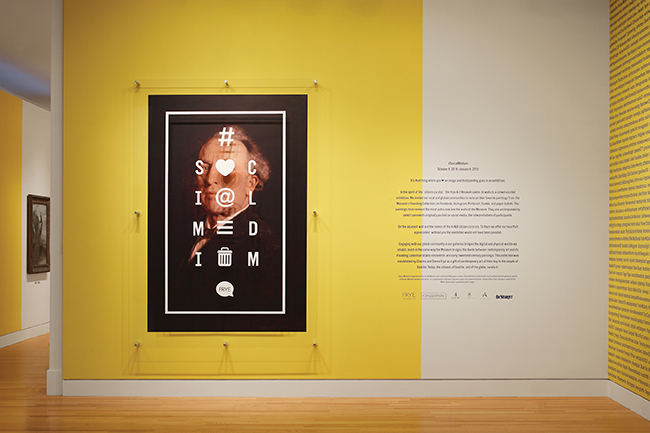 Social Medium exhibition identity at the Frye Museum (Seattle, Washington, 2014). Photo: Courtesy of Civilization