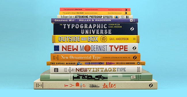 Anderson has coauthored thirteen books with design historian Steven Heller, including Type Tells Tales, The Graphic Design Idea Book, New Vintage Type, and the upcoming Type Speaks. Photo: Courtesy of Gail Anderson