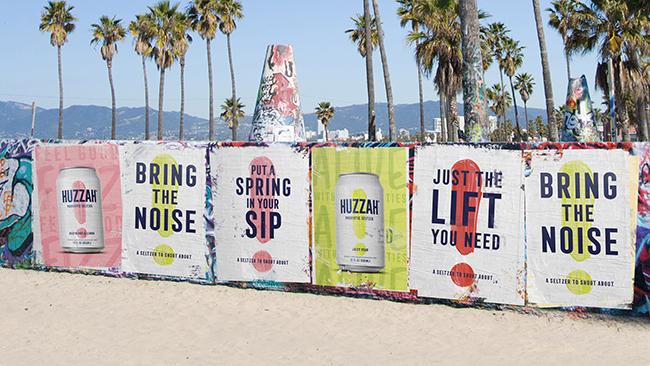 A graffitied wall near Venice Beach in Los Angeles, USA