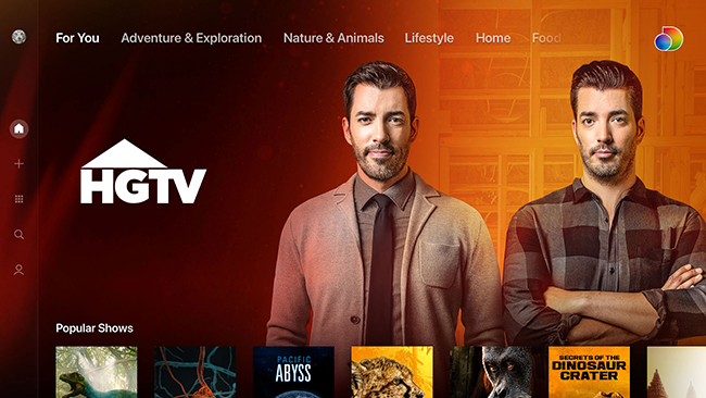 SCS DISCOVERY+ UX SCREEN HGTV